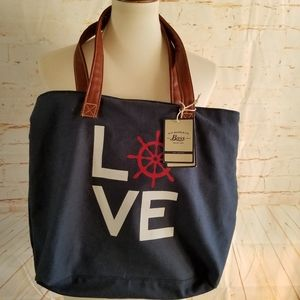 G.H. Bass & Co. Canvas Bag With Insert